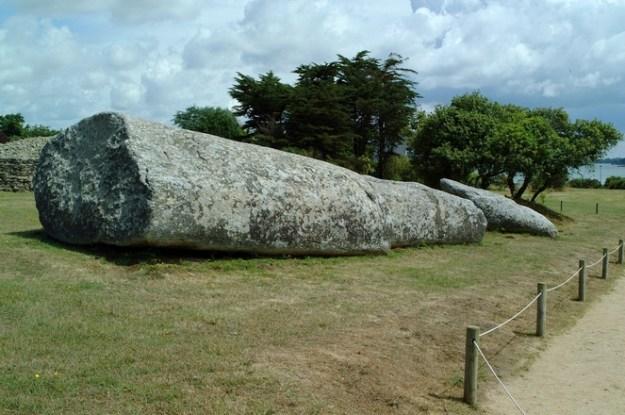 Le grand menhir,  Locmariaquer
