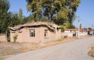 Landsby med mudderstenshuse nær Catal Hüyük