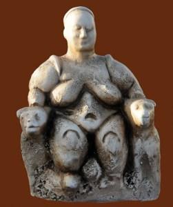 Moderfigur fra Catal Hüyük, museet i Ankara