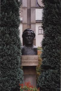 Mindesmærke over byens store søn i Humpolec