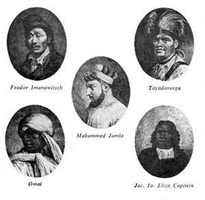 Repræsentanter for  Blumenbachs fem racer