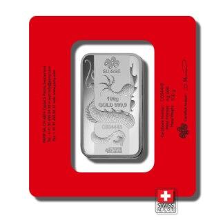 dragon 100 gram sztabka srebra