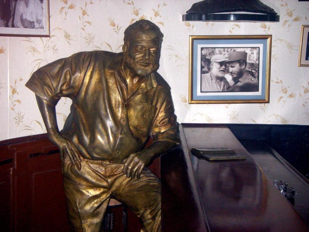 Hemingway statue at La Floridita