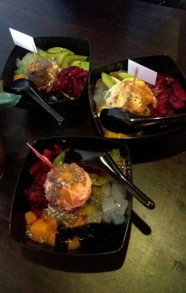 Vanila, Strawberry dan Durian Ice Cream