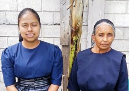 Ceci Benito (left) was baptized, and Matilde Mendez was received into fellowship in San Cristobal.