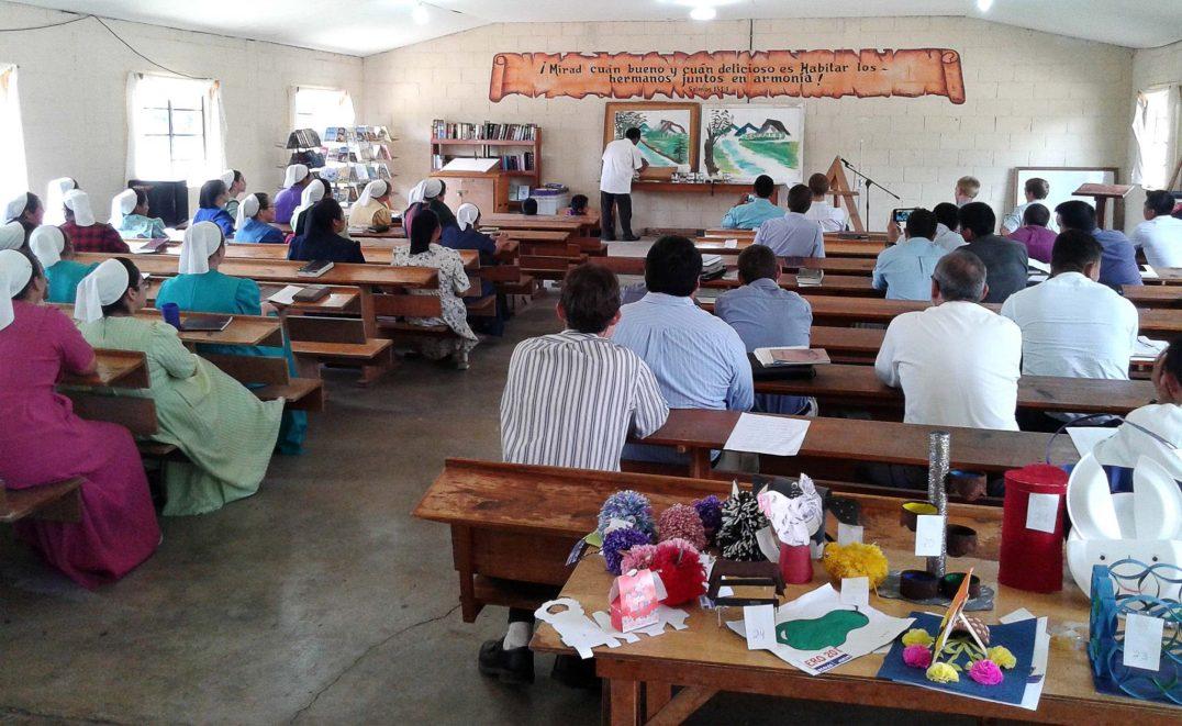 Pedro Tucubal is a painter, here teaching art at the Teachers Institute