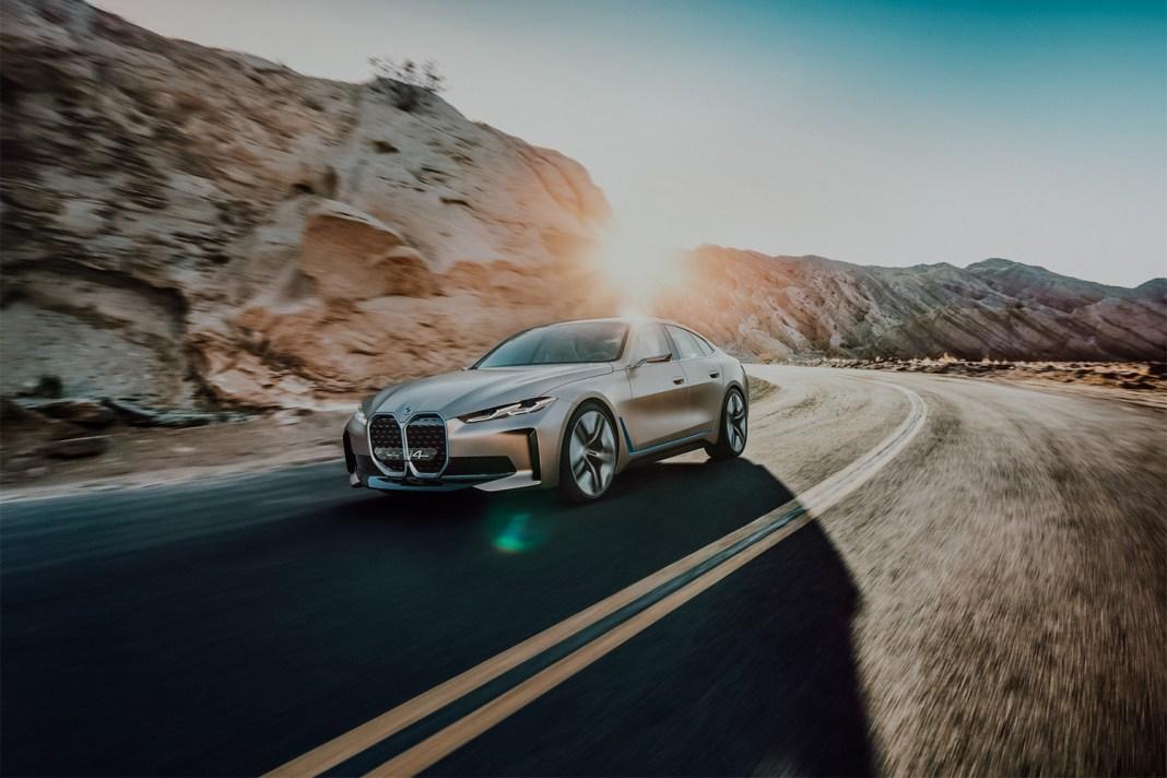 De BMW Concept i4, een volledig elektrisch aangedreven Gran Coupé