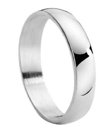 Classic Titanium Wedding Band For Men With Polished Finish