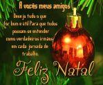 Mensagem de Feliz Natal para amigos e familia