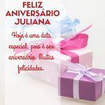 parabens juliana - mensagem feliz aniversario juliana