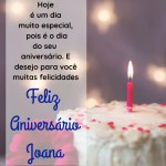 mensagem de parabens e feliz aniversario para joana