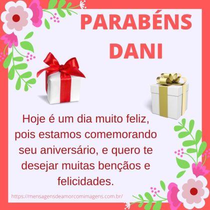 parabéns Dani 4