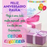 Feliz aniversario e parabens Paula