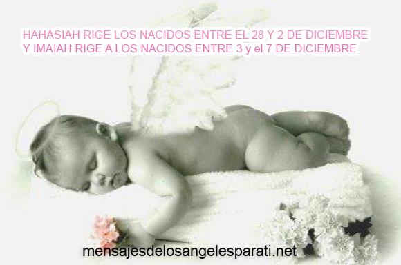 NANAEL RIGE LOS NACIDOS ENTRE EL 8 Y 12 DE DICIEMBRE
