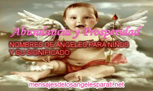 NOMBRES DE ÁNGELES PARA NIÑOS Y SU SIGNIFICADO