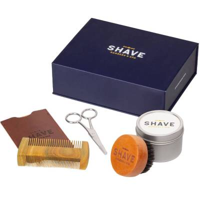 mejores productos belleza hombre shave barbers spa kit arreglar barba peine cepillo tijera balsamo deluxe beard grooming kit