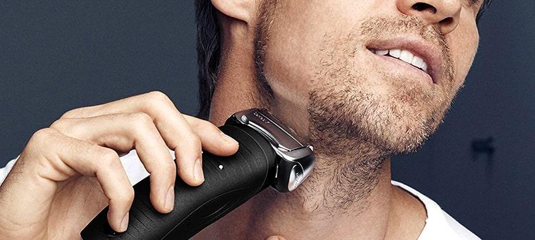 Dry Shaving with Electric Razor