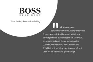 Aussage zur persönlichen Zusammenarbeit von Nina Barlok, Personalmarketing