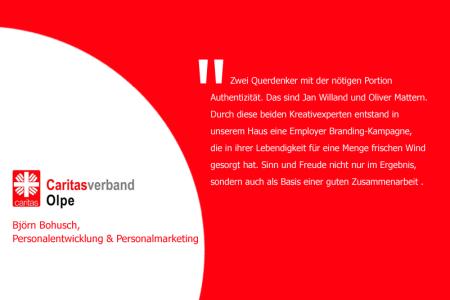 Aussage zur persönlichen Zusammenarbeit von Björn Bohusch, Personalentwicjklung und Personalmarketing