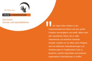 Aussage zur persönlichen Zusammenarbeit von Uwe Grohn, Gründer und Geschäftsführer