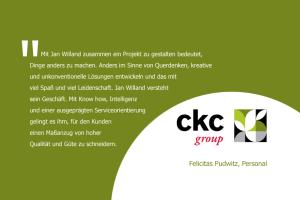 Aussage zur persönlichen Zusammenarbeit von Felicitas Pudwitz