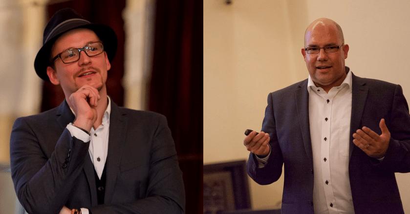 Jan Willand und Oliver MAttern in Ihrer Funktion als Vortragsredner