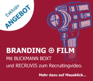 Illustration zur Promotion des Paketes Buckmann Boxt mit Recruitingvideo von Recruvis