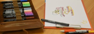 Stiftmappe und Klemmbrett zur Visualisierung