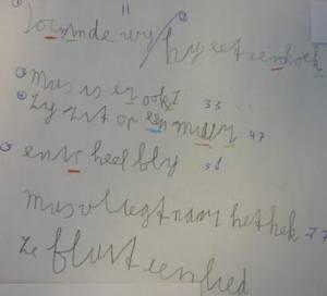 Verbeterd handschrift
