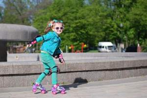 Balans bij rolschaatsen