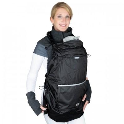 Hoppediz - Fleece Cover 3 in 1 Regenbescherming - Antraciet