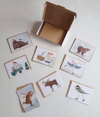 Getekend door Zusje - Kerst Set 8 kaarten
