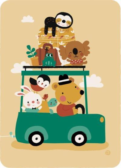 Bora kaart - Going on Holiday