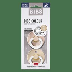 Bibs - Maat 1- Blush/Vanilla Glow in the Dark 2-pack