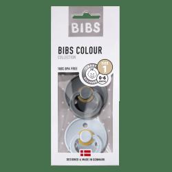 Bibs Maat 1- Iron/Baby Blue 2-pack