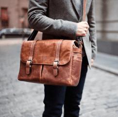 Image result for Best Leather Laptop Messenger Bag: