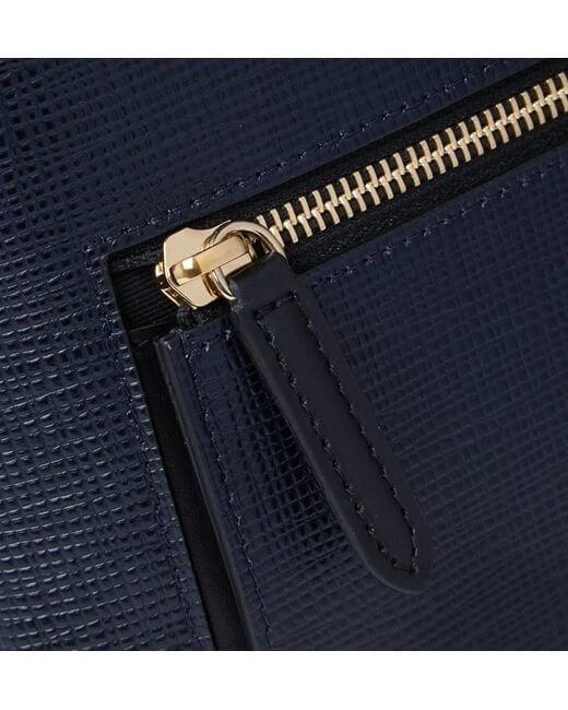 around cross grain leather backpack