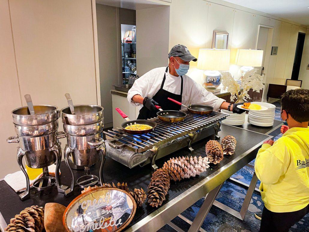 Omlelette Stateion at Seasons Four Seasons