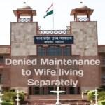 Maintenance Denial to Wife : MP HC