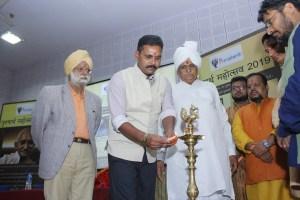 Anshul Verma Lighting The Lamp at Purusharth Mahotsav