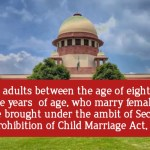 Representational Image : Anti Child Marriage Laws punish male only
