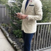 cotton suiting with loafers