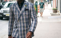 Indochino Plaid Linen Blazer