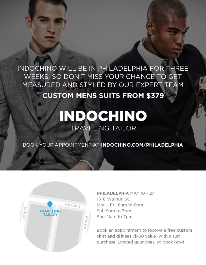 Indochino Philly Traveling Tailior