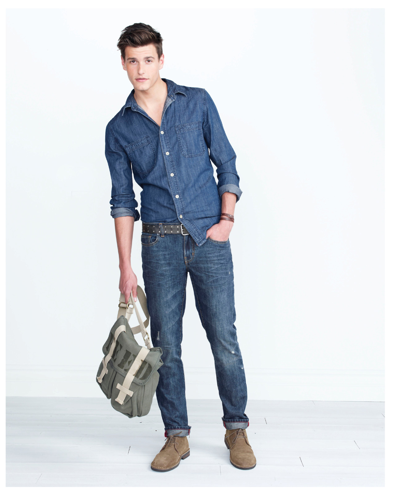 Denim Utility Shirt 20m Messenger bag 24m