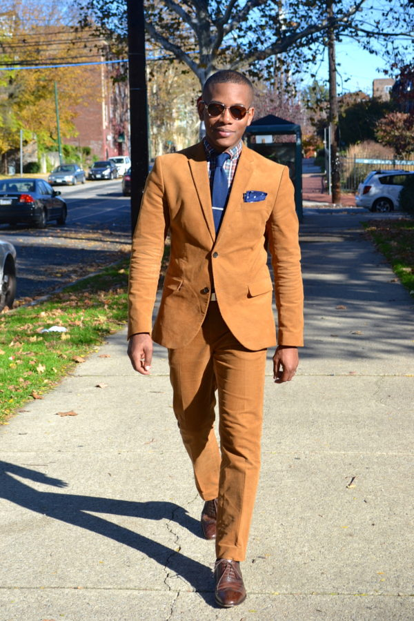H&M Corduroy Suit & Plaid #MadeInPhiladelphia Shirt by Commonwealth Proper