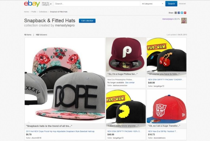 Men's Style Pro Snapback & Fitted Hats #ebayCollection