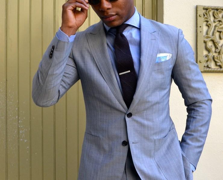Sabir Peele in Black Lapel Suit