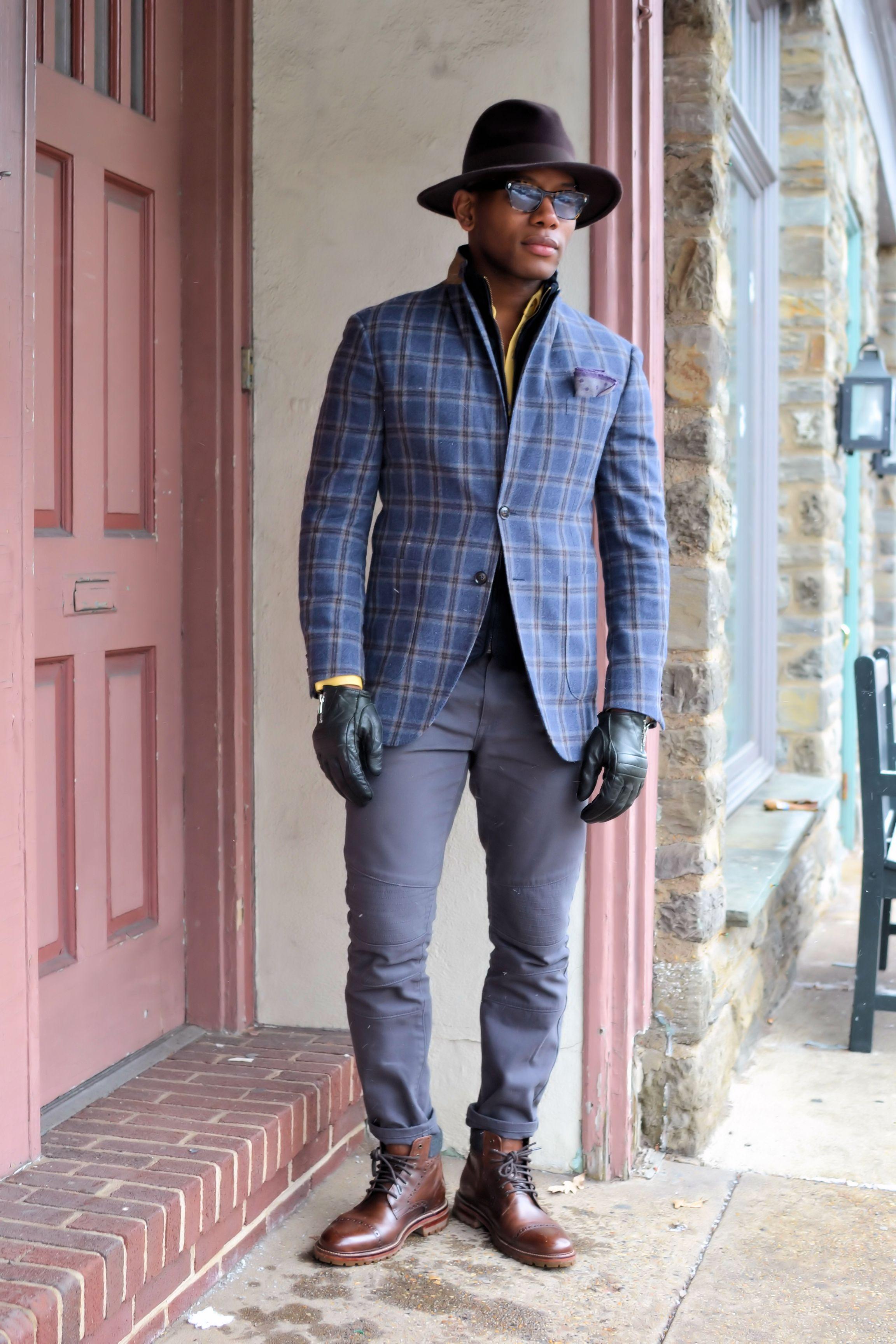 Knot Standard Ariston Fabric Windowpane Jacket