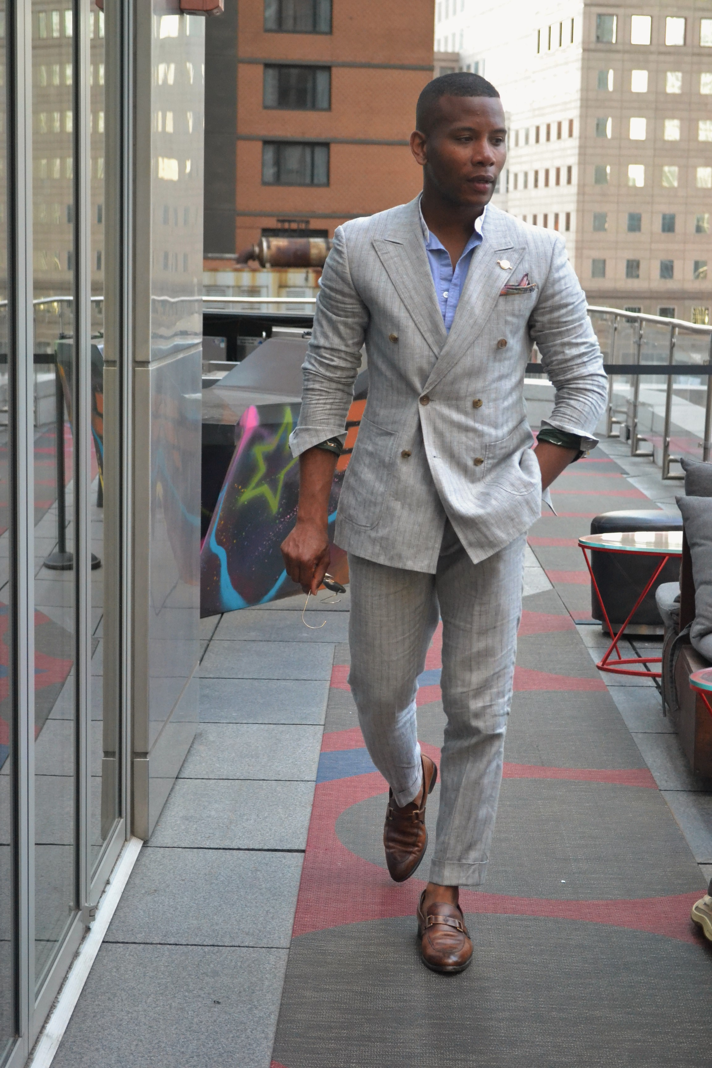 Walking the Terrance at W Hotel NY Downtown